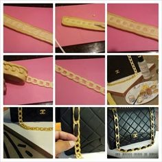 fondant chain for a cake purse tutorial