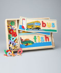 Take a look at this See & Spell Puzzle Set on zulily today!