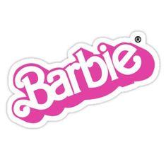 Vintage Barbie logo sticker Sticker