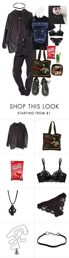 """Untitled #395"" by veela-deetz ❤ liked on Polyvore featuring Acne Studios, Dr. Martens, La Perla, The Rogue + The Wolf and Prada"