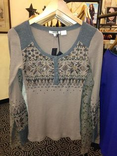 Miss Me beaded top. How cute with jeans & boots.