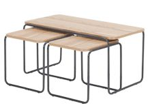 Hill Coffee and 2 x Nesting Side Tables, Ash and Grey