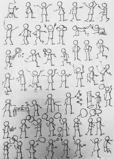 Drawing Tips draw a stickman Doodle Drawings, Doodle Art, Easy Drawings, Drawing Techniques, Drawing Tips, Visual Note Taking, Doodle People, Stick Figure Drawing, Visual Thinking