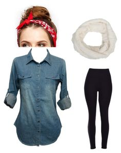 A fashion look from January 2016 featuring denim shirts, thick leggings and red bandana. Browse and shop related looks. Fashion Women, Women's Fashion, Polyvore Fashion, Women's Clothing, Female, Denim, Clothes For Women, Shoe Bag, Woman