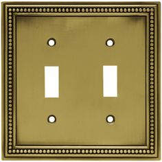 Beaded Double Switch Wall Plate
