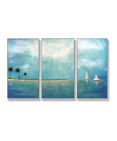Look at this Azure Breeze Triptych Wall Sign Set on #zulily today!