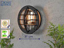 Außenwandleuchte mit Steckdose, Alu schwarz, Lampe Terrasse Fassade Hauswand