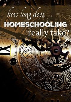 How much time should you budget for homeschooling?