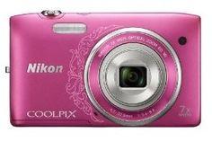 Nikon COOLPIX S3500 20.1 MP Digital Camera with 7x Zoom (Decorative Pink)