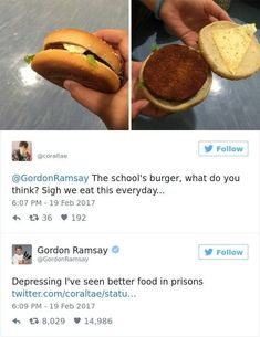 60 Times Amateur Chefs Showed Gordon Ramsay Their Food, And Instantly Regretted Their Decision Really Funny Memes, Stupid Funny Memes, Funny Relatable Memes, Funny Tweets, Hilarious, Funny Fails, Funny Vidos, Funny Minion, Gordon Ramsay Twitter
