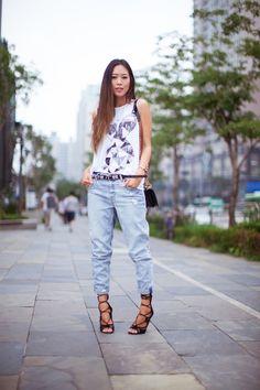 Summer Boyfriend Jeans #songofstyle