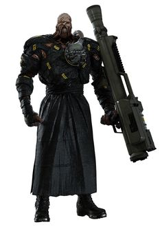 View an image titled 'Nemesis Art' in our Resident Evil 3 art gallery featuring official character designs, concept art, and promo pictures. Resident Evil Tyrant, Resident Evil Monsters, Resident Evil 3 Remake, Resident Evil Game, Monster Concept Art, Monster Art, Character Art, Character Design, Albert Wesker