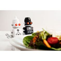 Great, Gifts to Give a Chef or foodies Space Gifts Cool White walking plastic robots in two 2 pack that have salt inside them and pepper for fun man and men dinner party adding salt and pepper grinders Unique Gifts For Men, Cool Gifts, Presents For Her, Gifts For Him, Retro Robot, Salt And Pepper Grinders, Christmas Stocking Fillers, Dinner Sets, Gift Store