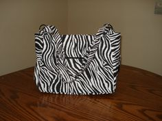 Zebra Print Bag by SBLcrafts on Etsy, $45.00