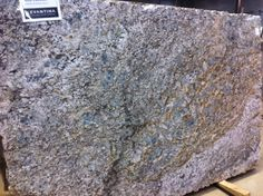 Just in: Blue Fire granite from Brazil is a swirling dramatic blue stone with both light and darker veins. Blue Flower Granite will add such a unique beauty to your home. (Levantina Chicago)