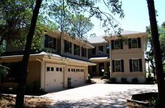 This new house is located at 13 Seaside Sparrow in Sea Pines.  It does have an elevator that may be used with the owner's permission.  There are 8 bedrooms and and 9.5 baths and sleeps 20.  It also has a cover lanai by the pool.