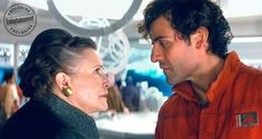 Entertainment Weekly: Star Wars The Last Jedi. Poe Dameron and General Leia. I wonder if this is the scene where she slaps Poe