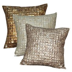 Shell decorated cushion collection
