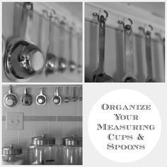 New Nostalgia: Organize Your Measuring Cups and Spoons.   NO MORE digging around in drawers trying to find them!