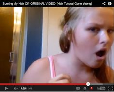 Ultimate video hair tutorial FAIL! So funny ... click to watch the video.