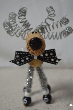 Billiard-themed Wine Cork Reindeer Cork Reindeer by TheCorkForest