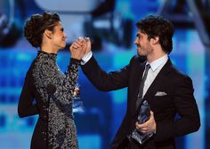 How cute were Nina Dobrev and Ian Somerhalder at the PCAs?