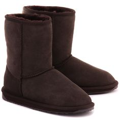 EMU Stinger Lo Chocolate - Czekoladowe Zamszowe Kozaki Damskie #mivo #mivoshoes #shoes #buty #emu #winter #suede #cold #weather #boots #brown #chocolate #colors #fashion #popular #style #stylish #new #collection #newcollection #snow #2015 #2016