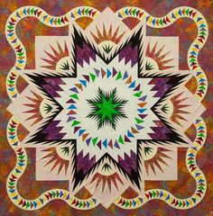 Glacier Star ~ Quiltworx.com, made by CI Barb Linares