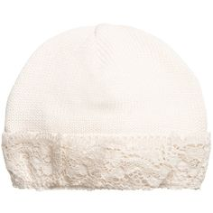 Naturapura - Baby Girls Ivory Organic Cotton & Lace Hat  