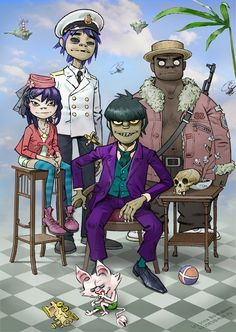 Gorillaz - remembrance photo by iricolor.deviantart.com