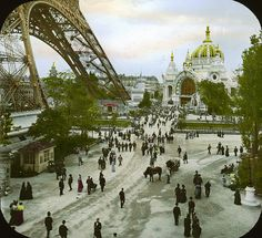 Photo of the Paris Exposition: Champ de Mars and Palace of Metallurgy, Paris, France, 1900 from the Brooklyn Museum