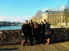 Linguistics students studying abroad in Italy this past Winter.