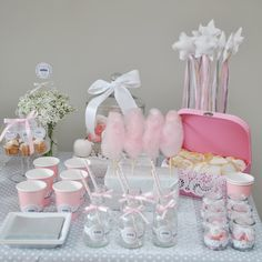 Sweet table on pinterest sweet tables dessert tables and baby showers - Deco de bapteme fille ...