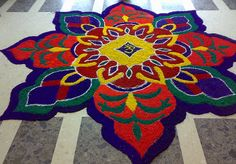 Rangoli - coloured salt