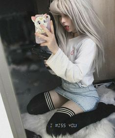Pin by Ida Möller on Artwork in 2019 Mode Kawaii, Kawaii Girl, Pastel Goth Outfits, Grunge Outfits, Cute Emo Girls, Goth Girls, Fashion 90s, Vintage Outfits, Kawaii Clothes