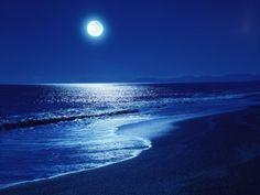 Love the moon light over a quiet beach....