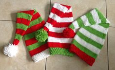 Quick and Easy Knit Santa Hat pattern on Craftsy.com