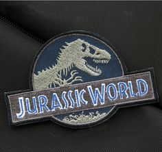 Jurassic World Badge Patch Embroidered Iron on Patch Sew on Patches Iron on Applique