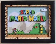 Super Mario World SNES Title Screen 3D by VideoGameShadowBox