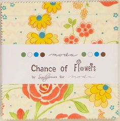 Charm pack Chance of flowers by sandy gervais for moda