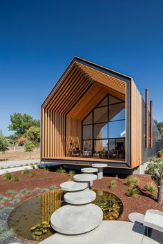 saraiva arquitectos designs pentagonal house-shaped residence in portugal portugues architecture firm filipe saraiva arquitectos has designed a 'house-shaped' house in the farmlands of ourém, portugal. Architecture Résidentielle, Sustainable Architecture, Contemporary Architecture, Japanese Architecture, Design Exterior, Modern Barn, Prefab Homes, Building A House, Green Building