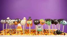 Photo about Halloween cake pops. Round-shaped mini cakes dipped in chocolate and decorated with fondant. Image of candy, stick, corn - 26965144 Halloween Cake Pops, Hallowen Party, Witch Cake, Postres Halloween, Cake Dip, Tall Cakes, Cupcakes, Halloween Pictures, Halloween Tricks
