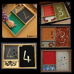 I haven't blogged this weekend as am shattered (I'll post next weekend instead), but I've just had a question about my Montessori tray on my Facebook page & as we had it out this week I thought I'd re-share a few pics. The children especially love using it with glitter ✨