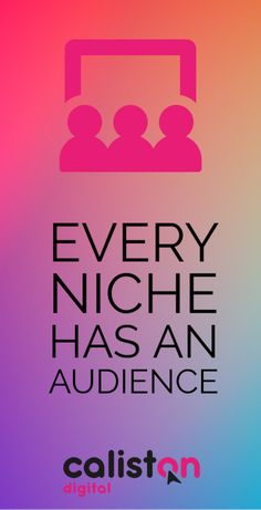 Every niche has an audience but you have to know how large it is before getting into business. Do your research. Online Digital Marketing, Small Company, Creative Business, Insight, Psychology, Finding Yourself, Psicologia
