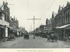 Glenferrie Rd in Malvern in 1915.