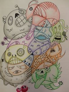 Art Mash: Quick and Easy Year End Activities, Monster Doodles.. End art the way it all began with the dot lesson in kindergarten