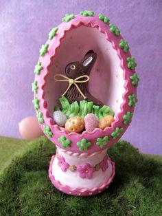 premo! Chocolate Bunny Egg Diorama