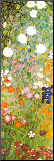 Flower Garden (Detail) Klimt (unusual and yet usual for this artist - I love this artist).