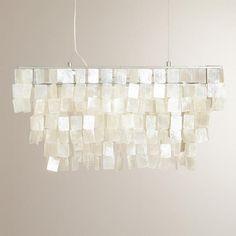 One of my favorite discoveries at WorldMarket.com: Rectangular Natural Capiz Hanging Pendant Lantern