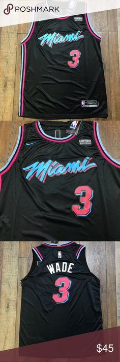 cb5c65ce9 NWT Dwayne Wade Miami Vice Heat Swingman Jersey Brand New with Tags Men s  Size Medium NBA City Jersey Perfect Condition 💯 Stitched 💯 Money Back  Guarantee ...